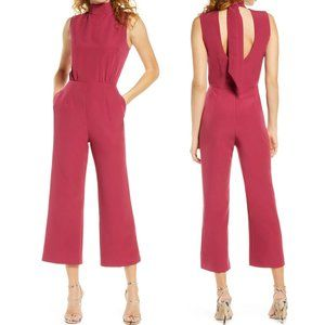 Charles Henry NEW Open Back Culotte Jumpsuit